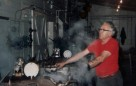 working at the steam retort