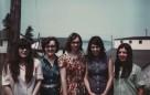 Linda Redmond, Beulah Wright, Irene Usher, Mary Cyr, Eileen Cyr, 1971, Caribou